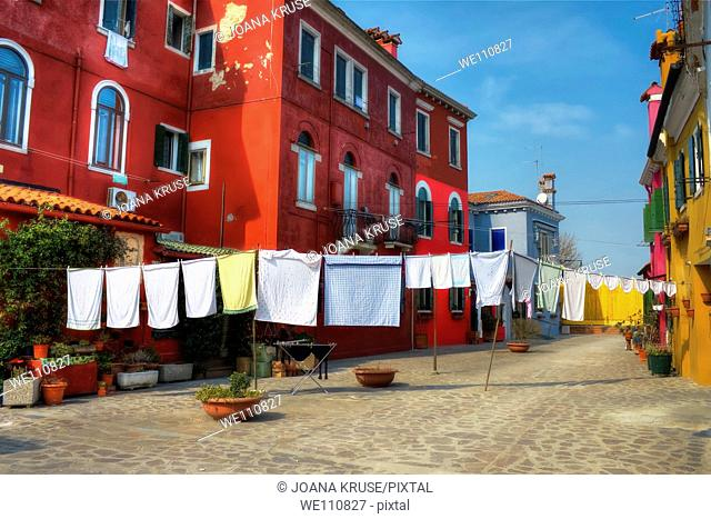 Burano - a small island which belongs to Venice and which is very popular because of its colourful houses