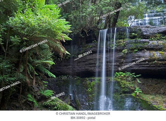 Russel Falls at Mt Field Nationalpark Tasmania Australia