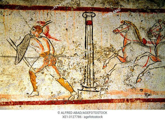 Ancient Greek paintings, Archaeological museum, Paestum, Italy