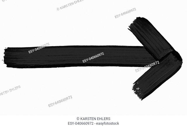 Isolated black hand drawn arrow