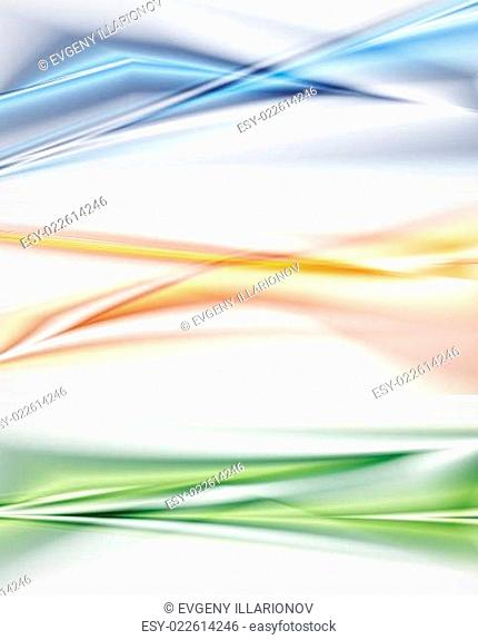 Bright abstract vector banners