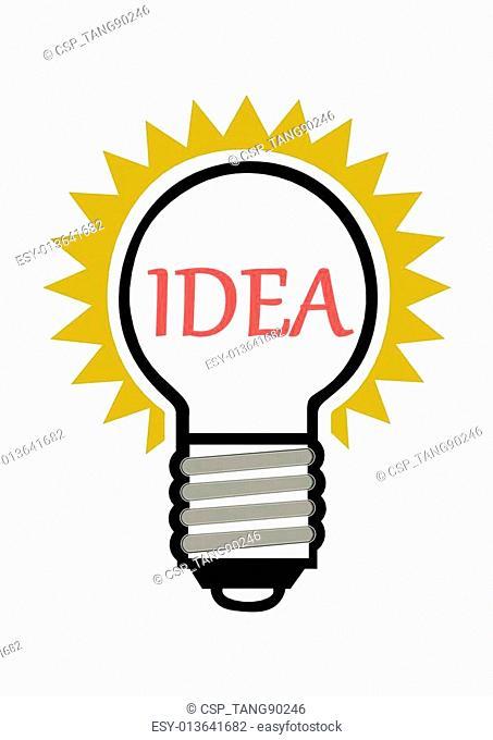 Light bulb series, red idea