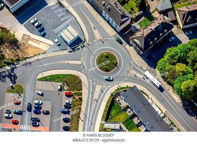 Roundabout Schmalenhofer Straße Sontumer Straße, Velbert, Ruhr area, North Rhine-Westphalia, Germany, Europe