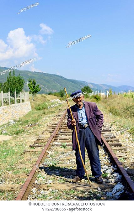 Local farmer in Lin village, Albania