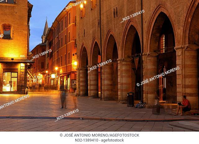 Bologna, Piazza Maggiore Main Square, Emilia Romagna, Italy
