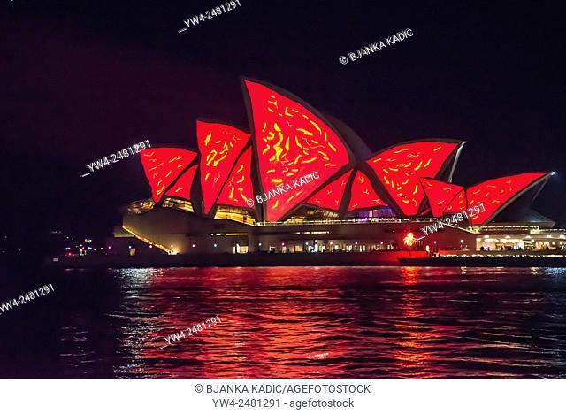 Vivid Festival, Light Installation, Sydney Opera House, Australia