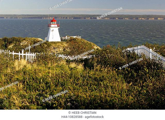 cape Enrage lighthouse, coast, sea, bay, Bay of Fundy, New Brunswick, Canada