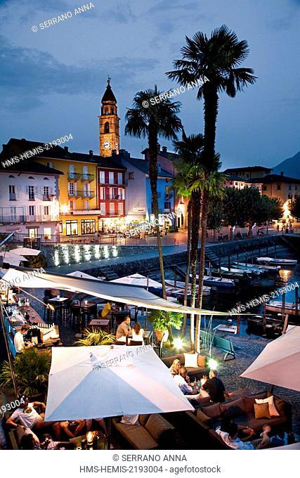 Switzerland, Lake Maggiore, Ticino, Locarno district, Ascona
