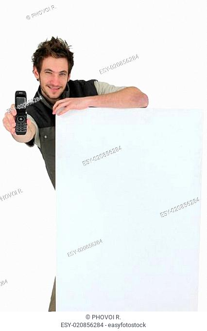 tiler showing phone