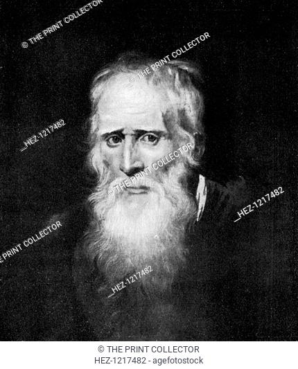 'Old Parr', 17th century, (1912). Portrait of Englishman Thomas Parr who supposedly lived for 152 years. A print of Peter Paul Rubens' painting