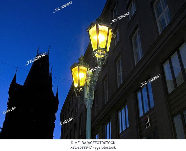 Traditional street lamp. Prague. Czech republic