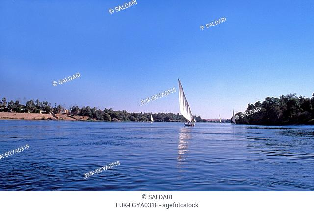 Feluccas on the Nile,Egypt