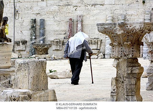 Israel, Jerusalem, Temple Mount, El-Aksa Mosque, religion, Islam, Muslims, old, relics of columns