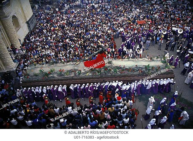 Holy Week procession. Antigua Guatemala. Guatemala