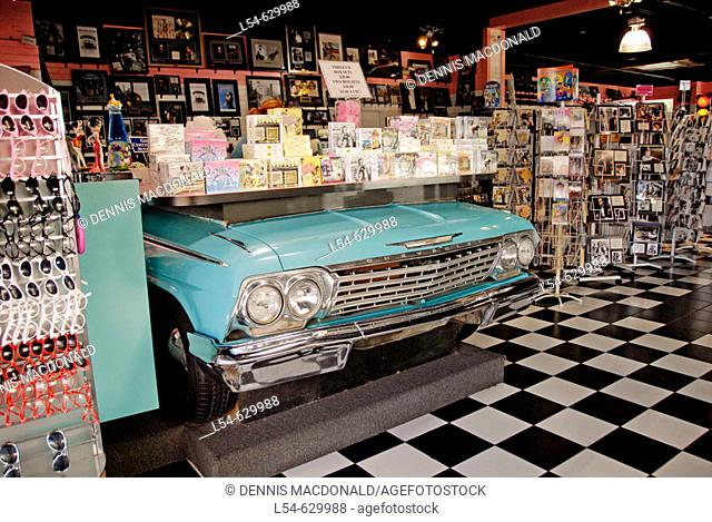 Antique Car Display in Old Town Area at Kissimmee. Orlando Disney Theme Park Area. Florida USA