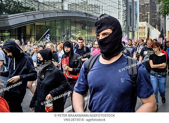 Brussels - Belgium - 24-05-2017 - Protestmars Trump not welcome in Brussels