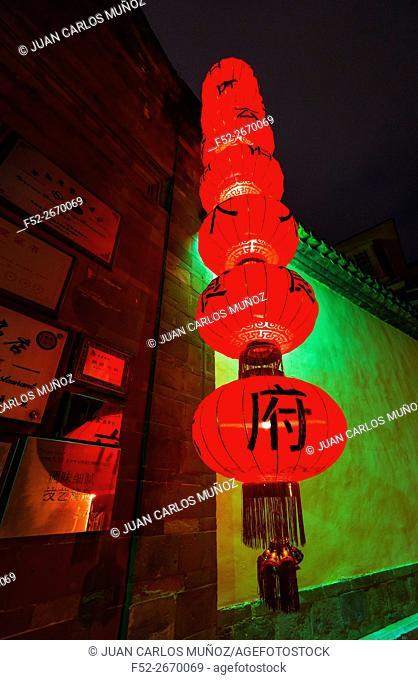 Traditional Chinese House, Dereins Restaurant, Kunming, Yunnan, China, Asia