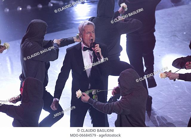 Italian singer and presenter Claudio Baglioni during the second evening of the 69th Sanremo Music Festival. Sanremo (Italy), February 6th, 2019