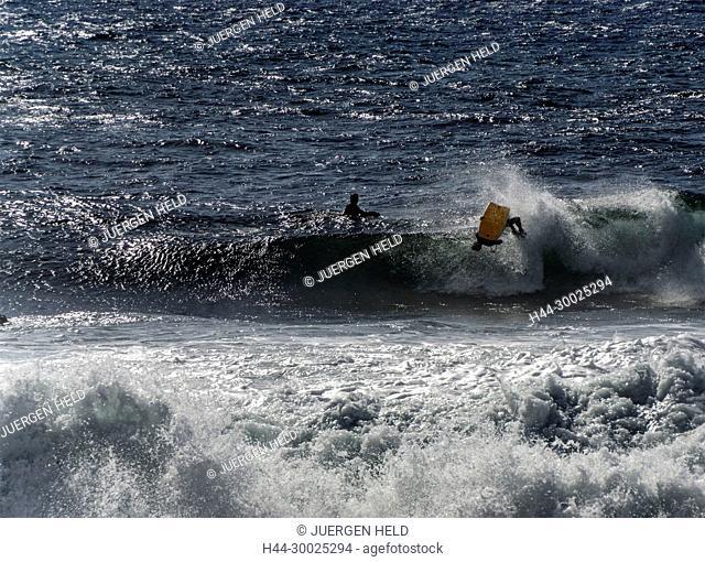 Surfer at El Remo, La Palma, Canary Islands, Spain