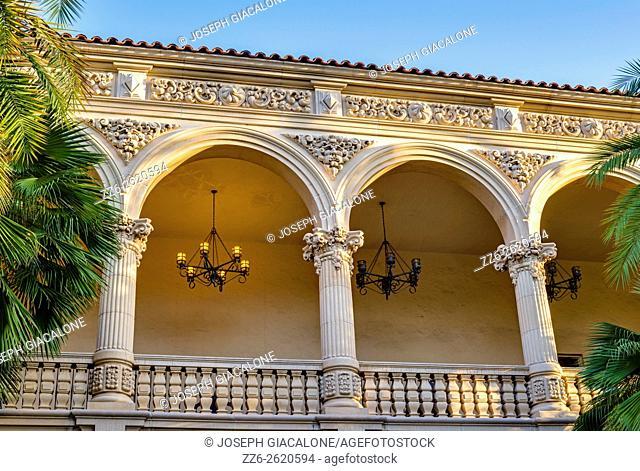 Casa Del Prado building. Balboa Park, San Diego, California, USA
