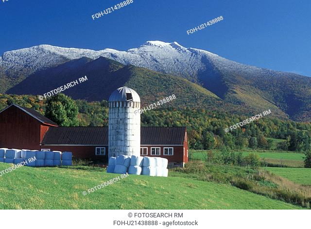 first snow, mountain, farm, Cambridge, VT, Vermont, farm, red barn, Pleasant Valley, fall, first snow, Mt. Mansfield