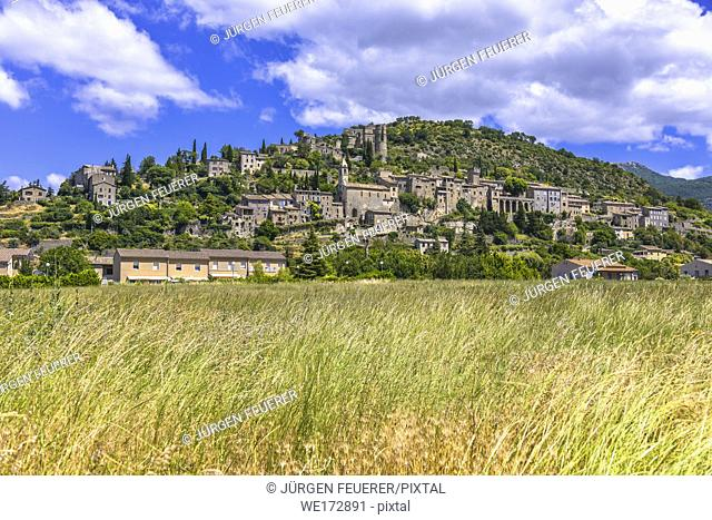 Montbrun-les-Bains, Provence, France, Drôme department, region Auvergne-Rhône-Alpes, member of Les Plus Beaux Villages de France