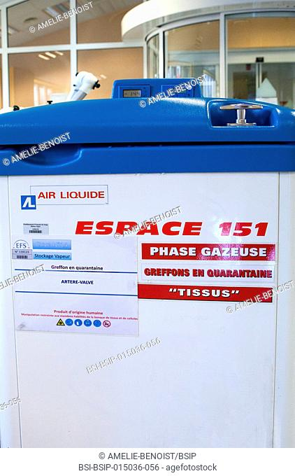 Reportage in a tissue and cell bank belonging to the EFS (French Blood Establishment). The bank?s mission is to ensure France?s self-sufficiency in cell and...