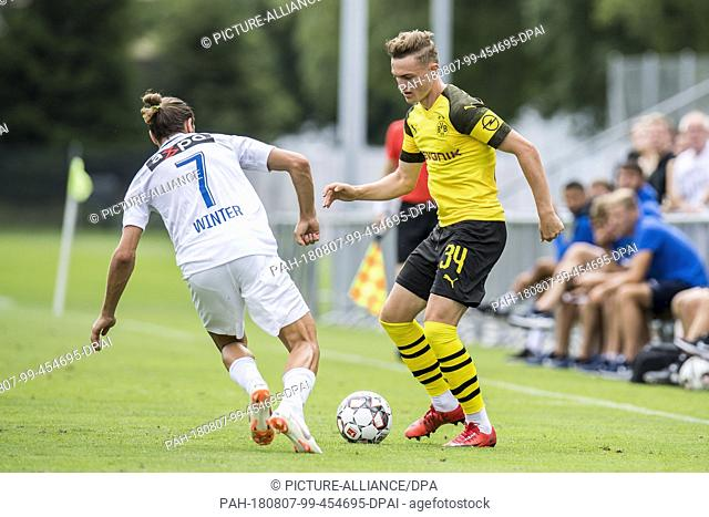 07 August 2018, Switzerland, Bad Ragaz: soccer, BVB summer training camp 2018, test match Borussia Dortmund vs FC Zurich