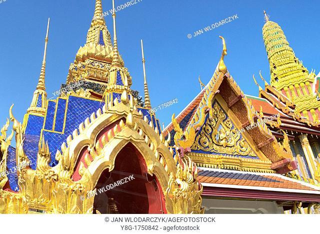 Thailand - Bangkok, Wat Phra Kaeo, Esmerald Buddha Temple