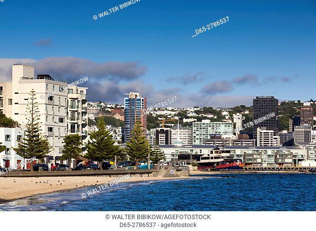 New Zealand, North Island, Wellington, Oriental Parade, buildings