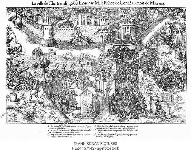 Siege of Chartres, French Religious Wars, 1568 (1570). Sappers working to undermine a bastion forming part of the city's defences