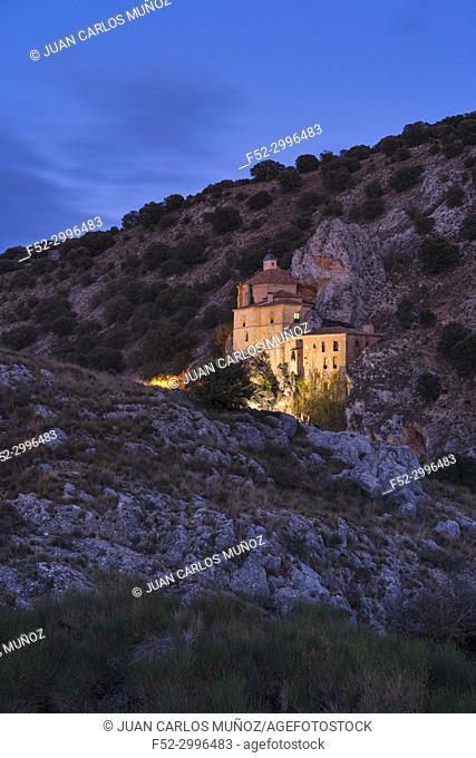 Hermitage of San Saturio, Soria city, Soria province, Castilla y Leon, Spain, Europe