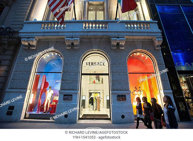 The Versace store on Fifth Avenue in New York