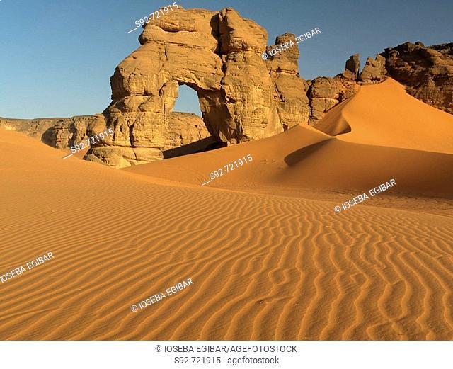 Acacus mountains in the desert, Libya