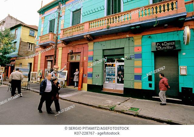 Caminito street. La Boca district. Buenos Aires. Argentina