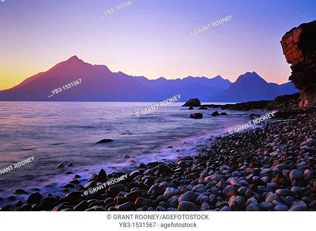 The Cuillen Mountains from Elgol Beach, Isle of Skye, Scotland