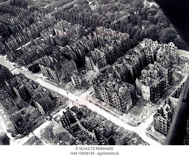 Hamburg, Operation Gomorrah, July 1943, Germany, Europe, history, historical, historic, Royal, Air Force, RAF, Second
