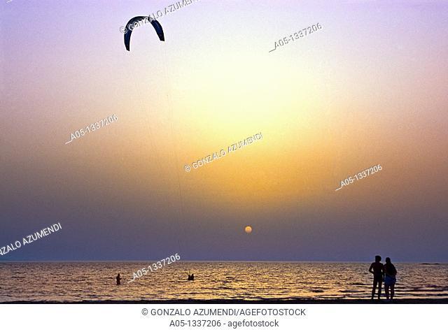Kite-surf in Prassonissi, Rhodes Island, Greece