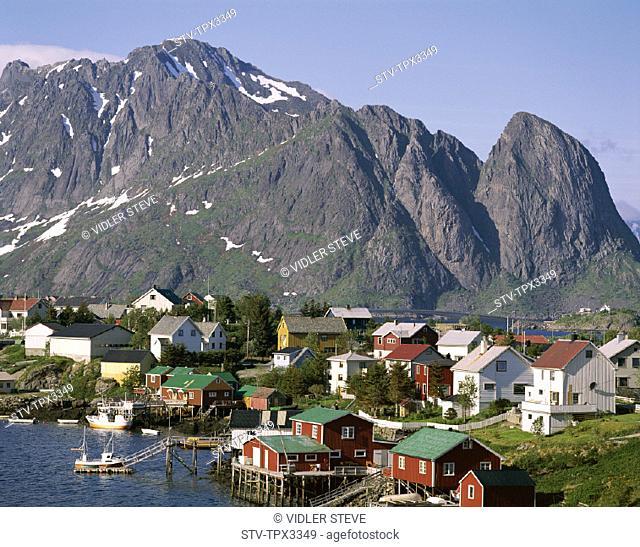 Holiday, Islands, Landmark, Lofoten, Mountains, Norway, Europe, Reine, Tourism, Town, Travel, Vacation, View