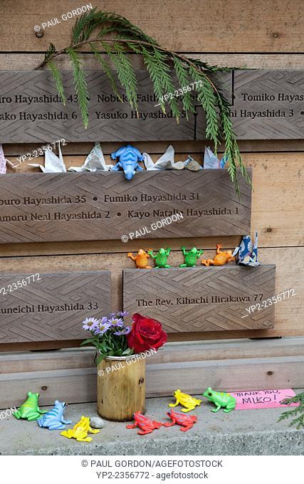 Memorial to Fumiko Hayashida at the Story Wall - Bainbridge Island Japanese American Exclusion Memorial - Bainbridge Island, Kitsap County, Washington, USA
