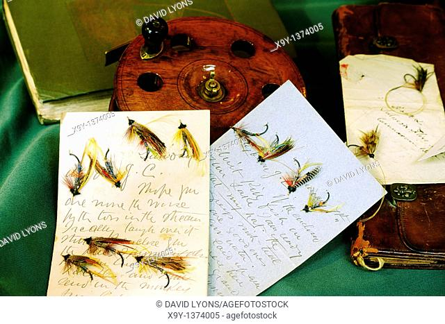 National Museum of Fly Fishing in the small town of Manchester, Vermont, USA  Hand tied flies and archive letters from Ireland