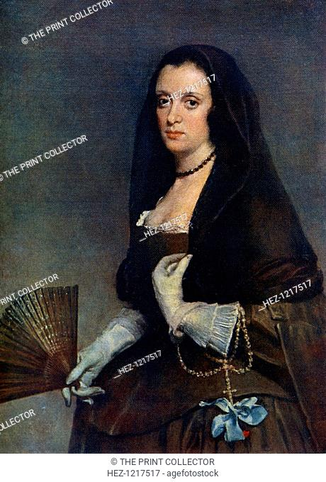 'The Lady with a Fan', c1630-1650, (1912). A colour print from Famous Paintings, with an introduction by Gilbert Chesterton, Cassell and Company, (London