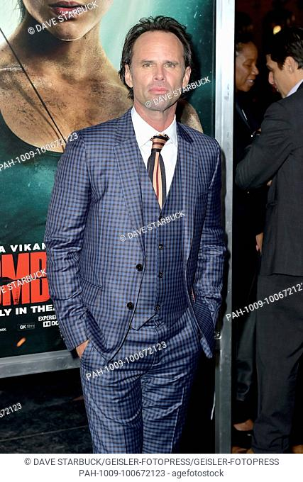 Walton Goggins attends the 'Tomb Raider' premiere at TCL Chinese Theatre IMAX on March 12, 2018 in Hollywood, California.   Verwendung weltweit