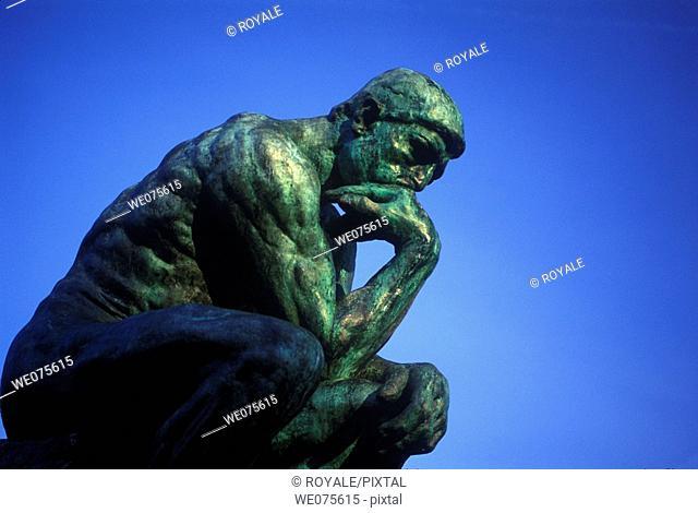 Thinker Statue Rodin. Museum Paris France