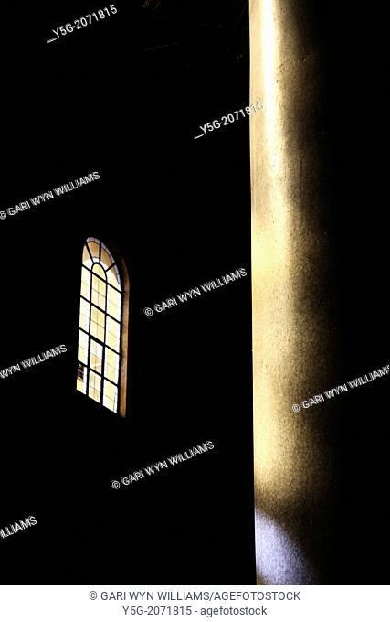 scene in santa maria in trastevere church in trastevere in rome italy