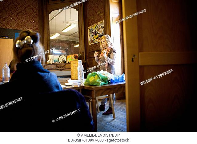 Reportage in a psychiatric day care centre in Haute Savoie, France. The day care centre is a part-time psychiatric care unit with a dozen patients a day
