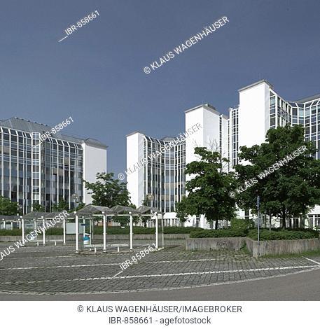 Modern architecture, bus station at the Park&Ride Heimeranplatz Munich, Bavaria, Germany, Europe