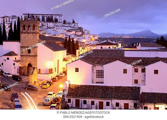 View of the church of Padre Jesús in Ronda, Malaga, Andalusia, Spain