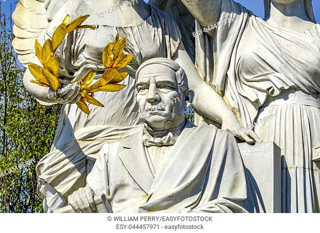 President Benito Juarez Hemicyle Monument Mexico City Mexico. Juarez is the Abraham Lincoln of Mexico. Built in 1910