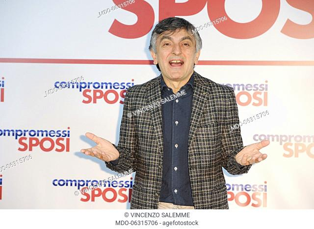 Italian actor Vincenzo Salemme attends the Compromessi sposi photocall at the Meridien Visconti Hotel. Rome, January 21st, 2019